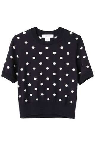 Comme Des Garcons Polka Dot Cropped Knit_$257.60_La Garconne