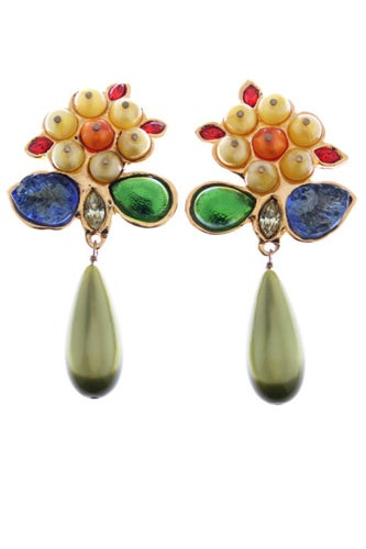 Chanel-ca1960s-poured-glass-and-gilt-metal-drop-earrings-$2950