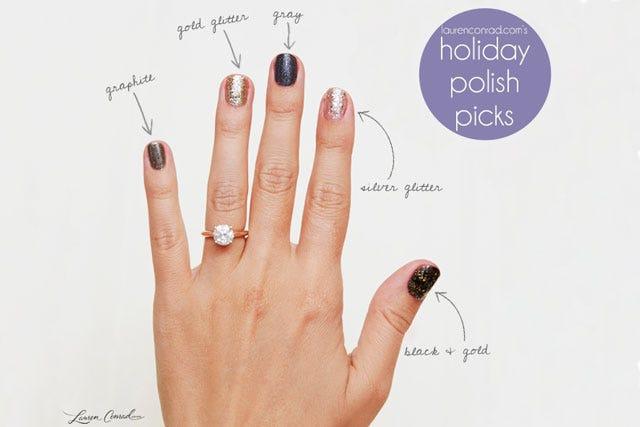 Lauren Conrad's Top 5 Holiday Nail Polish Picks