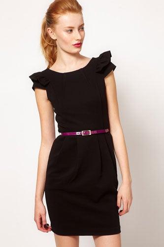 Warehouse Pleat Dress with Contrast Belt