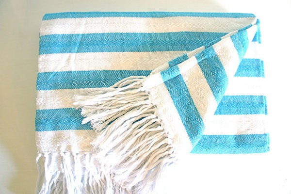 MexChic-Etsy_Stripped-Cotton-summer-blanket