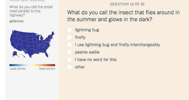 Take This American Dialect Quiz, Squeal With Delight