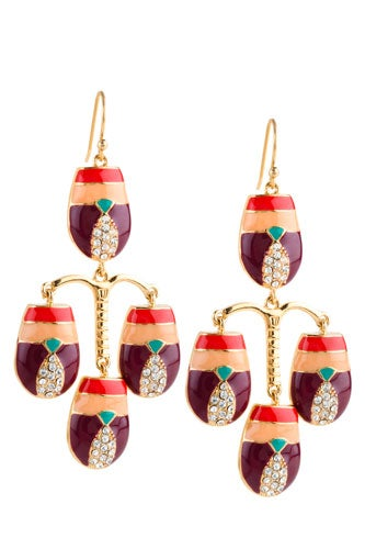 Scarab-Chandelier-Earring-Red-Ochre