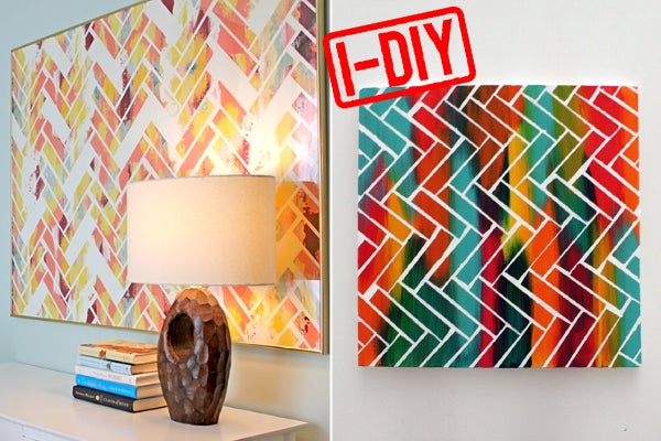 Diy Wall Art Canvas Tape : Diy paint project weekend home decor ideas