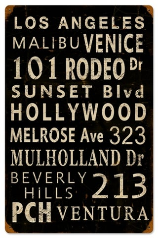 LA Streets Sign-rememberthen1954 - $39.95