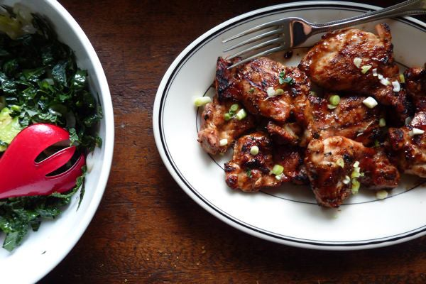 Asian-Style Barbecue Chicken (For All You Sriracha Fanatics)