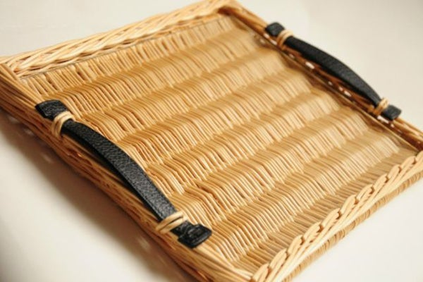Hermes wicker tray - luxury2go - $775.00
