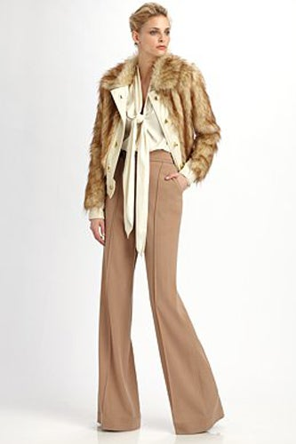 rachel zoe faux fur coat