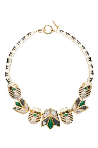 Scarab-&-Lotus-Necklace-Black-&-White