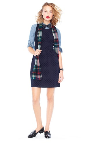 shirt-under-shift-dress-jcrew