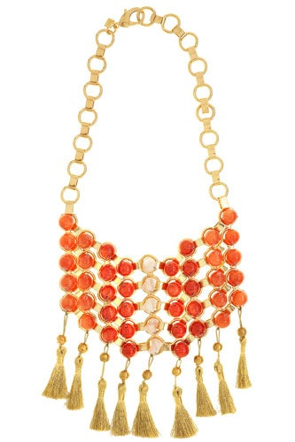Calypso Loves Dannijo Big Bib Necklace With Tassle