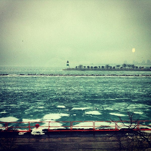 Frozen Lake Michigan: Your Insta Isn't Worth It