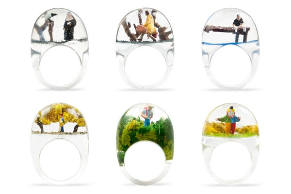 Snow Globes Rings- Shannnam Snow Globe Rings