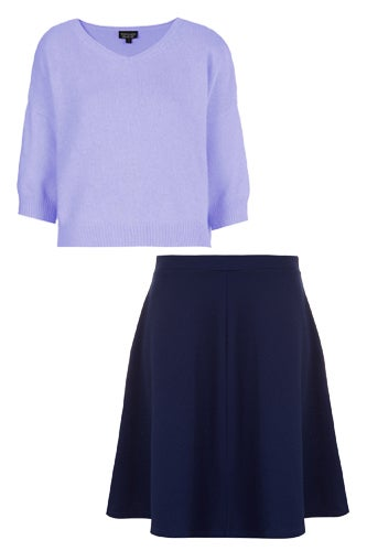 Blue and purple color outfit combinations - Combination of blue and purple ...