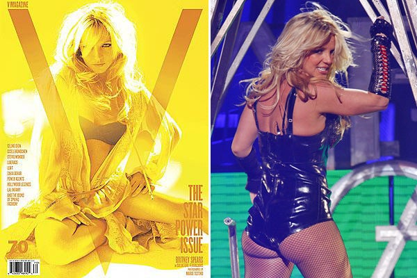 Britney Spears V Magazine cover shoot