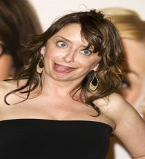 Wouldn't Rachel Dratch be the best person to have at a sleepover? She'd be like a mom, but a really cool, feeding-you-sugar-after-10 mom.