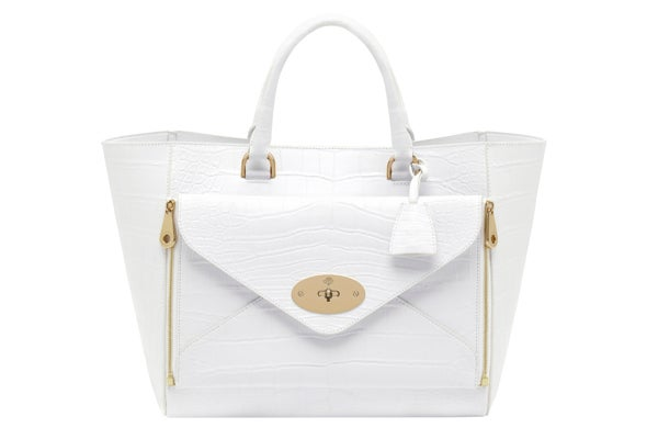 Willow Tote Alligator White