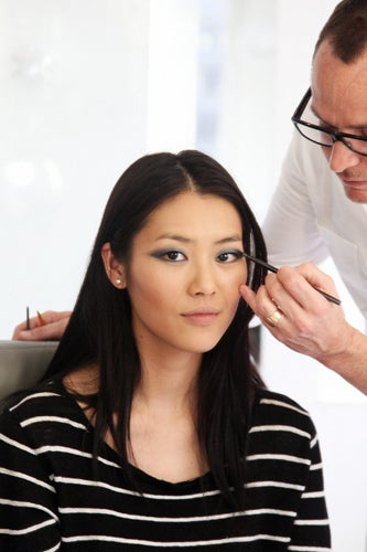Liu Wen prepares for the Met Ball 2011