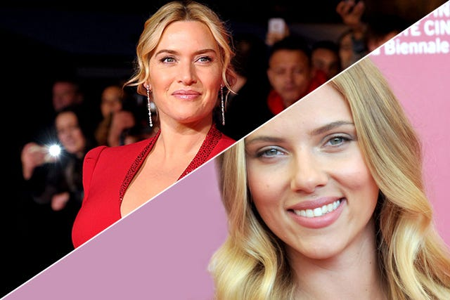 Scarlett Johansson & Kate Winslet Ditch Makeup For Art