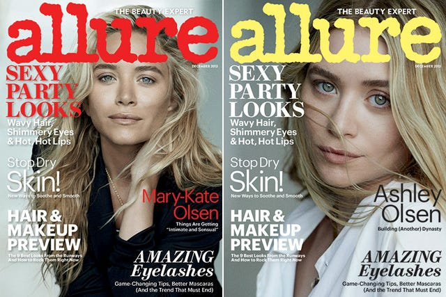Mary-Kate & Ashley Go Bare-Faced For Allure