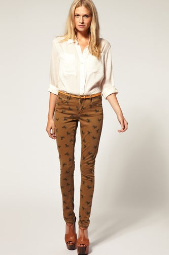 patterned pants for fall