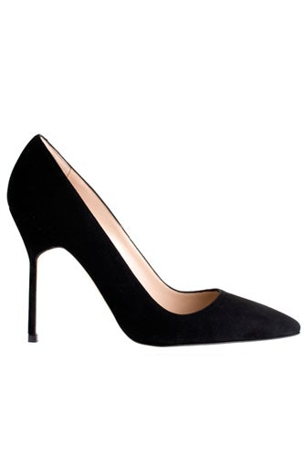 Manolo Blahnik Suede Pump, $595, available at Savannahs