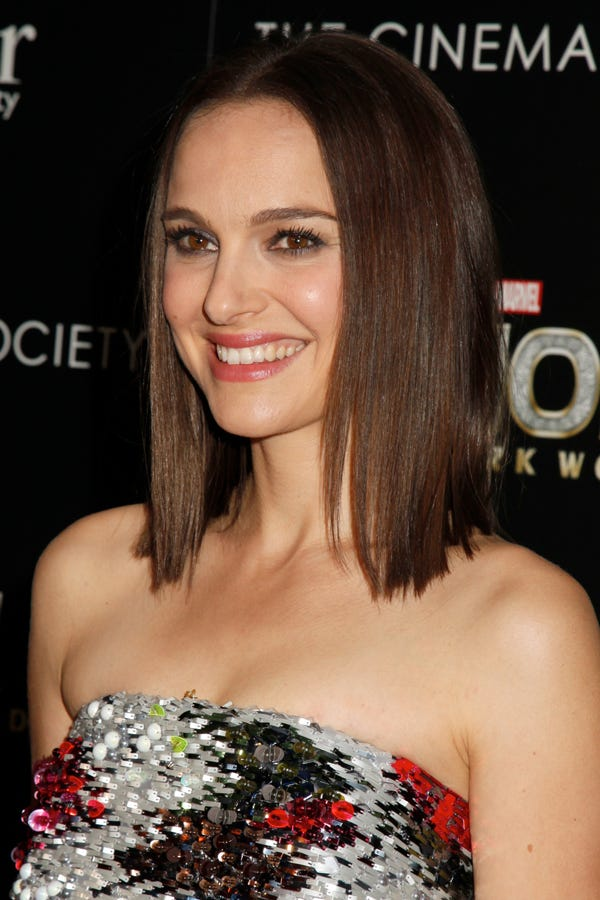 Natalie Portman Dark Hair Color Thor Premiere Picture