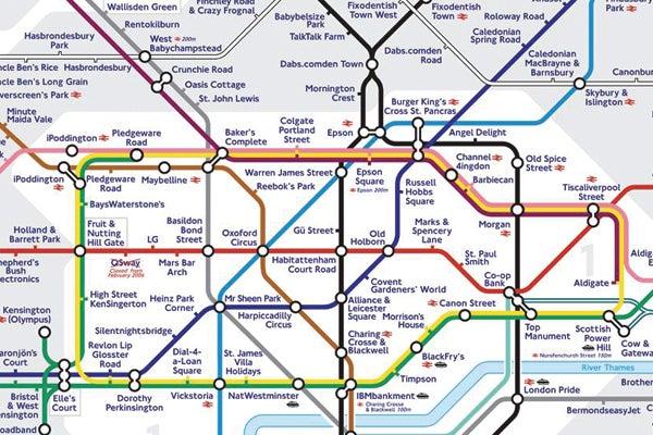 Sponsored Tube Map  London Economy Affecting Commute