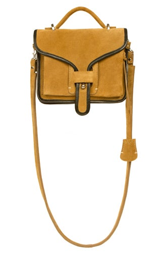 OCLA Khaki Suede Black Leather Trim