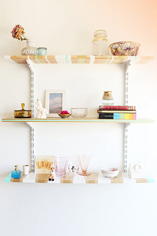 Striped Shelves: The DIY Your Walls Have Been Waiting For