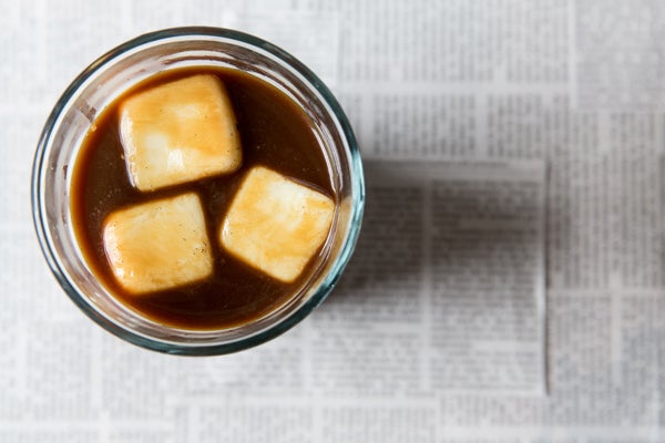 Vanilla-Milk Ice Cubes