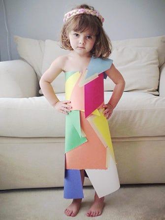 4 Year Old Fashion Designer Makes Paper Dresses