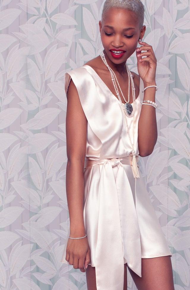 3f82dc061 ... Hair and Makeup by Bethany Brill, Set Design by Mari-Yan Morvan.Tiffany  & Co. Ziegfeld Collection Daisy Locket, $800, available at tiffany.com;  Tiffany ...