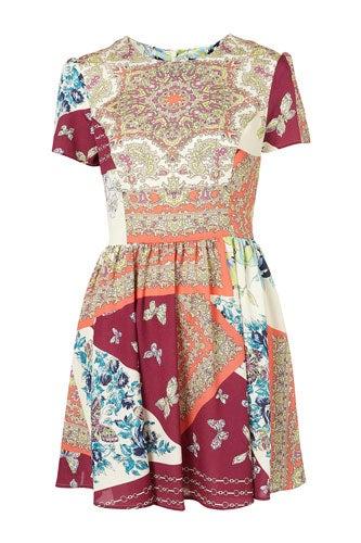 Topshop Scarf Print Dress