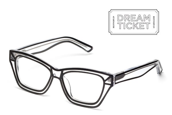 Black Lined Ksubi Glasses - Line Drawing Eyeglasses