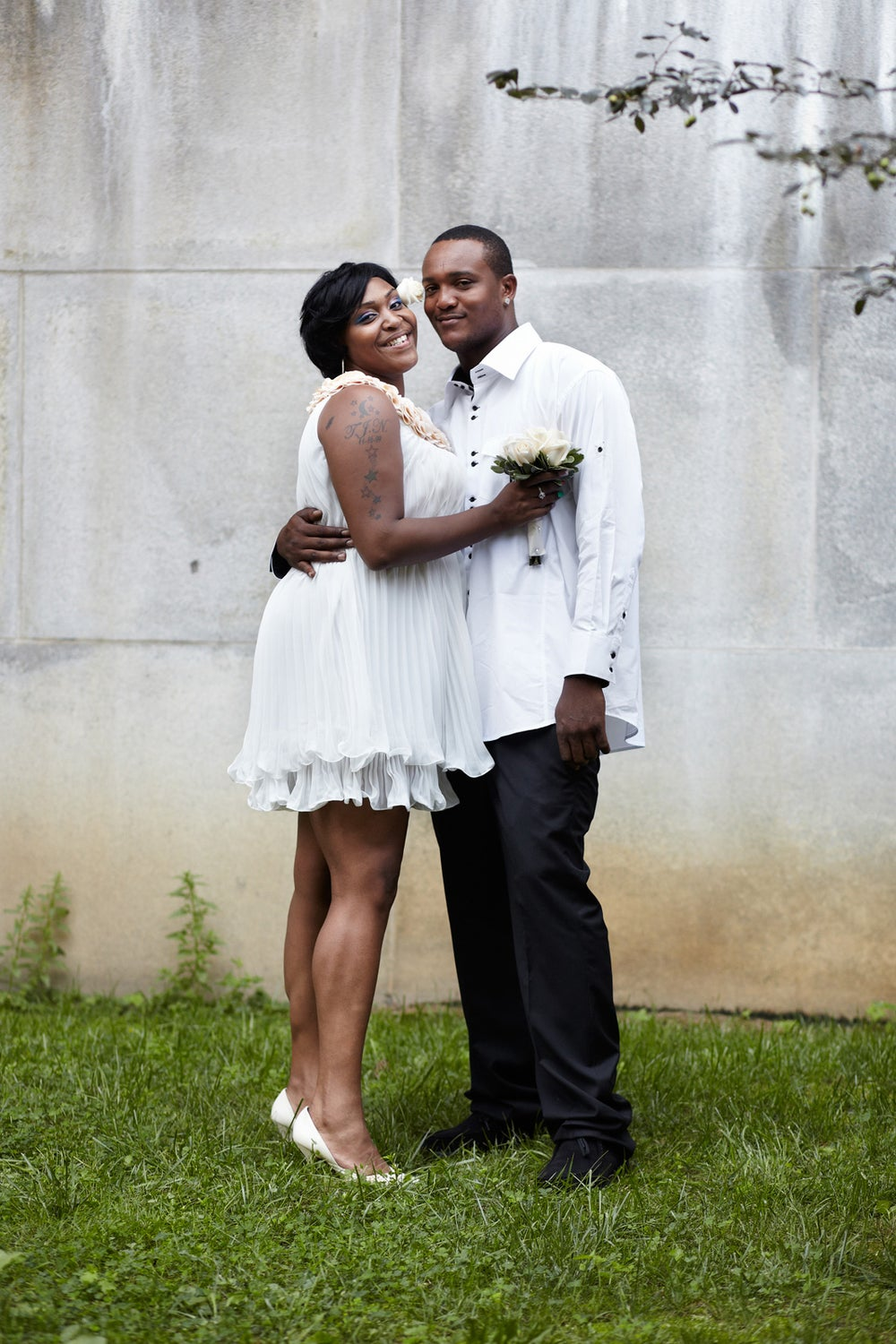 Job developer Takiya Ross and construction worker Blondell Ross met at a mutual friend's party.