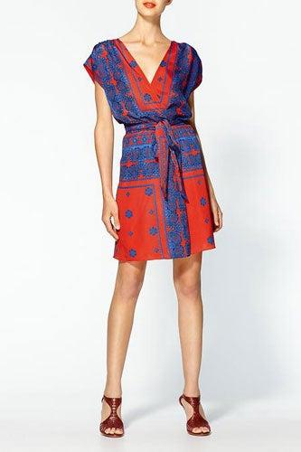 Pim + Larkin Scarf Print Mini Dress